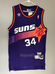 hot sale online 19eb0 0dd16 Details about NWT Charles Barkley #34 NBA Phoenix Suns Swingman Throwback  Jersey Man