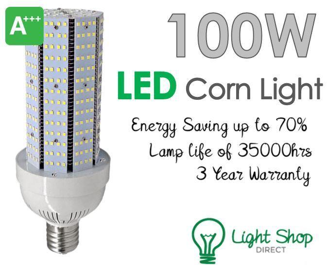 Heathfield 100w LED Bombilla Maíz GES E40 6000k la luz del día (hcorn 100 6000K GES)