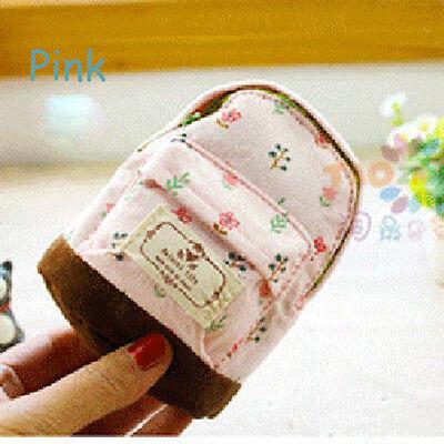 Nice Small Cute Girl Coin Card Purse Backpack Zipper Bag Pouch Flower Canvas