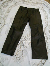 J. Parks Womans VTG Black Leather Motorcycle Pants Size 32