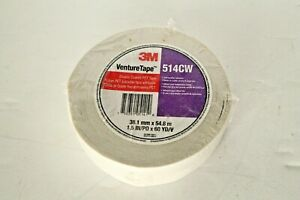 38mm x 55m 6 Pack 3M Venture Tape Double Coated Sided PET Tape RED 514CW