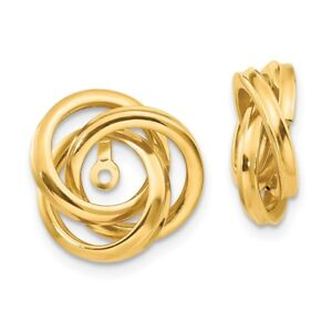 Details About 14kt Yellow Gold Polished Love Knot Earring Jackets