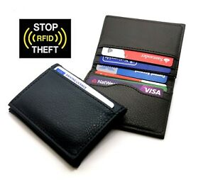 Slim RFID Blocking Credit Card Holder, Holds up to 6 Cards and Bank Notes