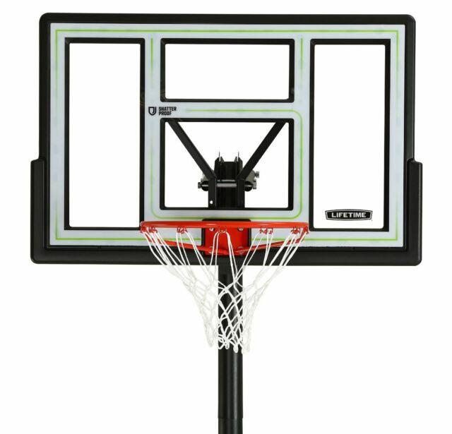 Lifetime 90584 46 inch Adjustable Portable Basketball Hoop for sale online