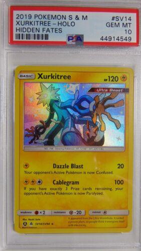 Xurkitree SV14//SV94 Hidden Fates PSA 10 Gem Mint Holo Rare Pokemon Card