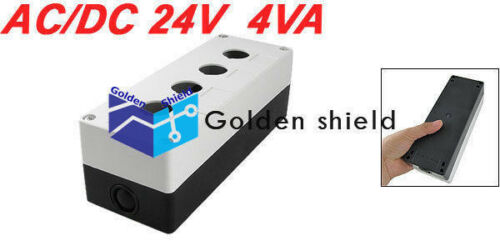BX4-22 White Black Plastic 4 Holes Push Button Switch Control Box