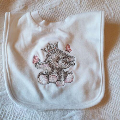 cualquier nombre Niño Babero, Personalizado Bordado Bebé lindo. Regalo Baby Shower