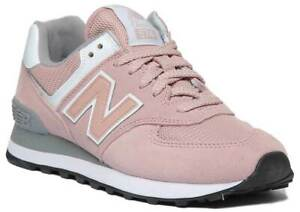 conservador picar Negar  New Balance Wl574Unc Womens Suede Leather Trainer In Pink White- Ex Display  Size | eBay