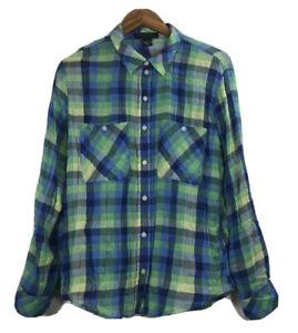 Sanctuary Women's Size Small Boyfriend for Life Flannel Shirt Plaid Button