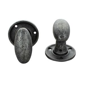 Image Is Loading Pewter Door Knobs Mortice Rim Antique Vintage Oval