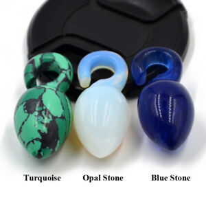 Turquoise-Opal-Stone-Heavy-Ear-Weight-Tunnel-Gauges-Expander-Lightweight-Plugs
