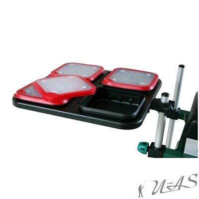 Delta Fishing Futterwanne In Rot für BeisteLL Tisch Sitzkiepe Futterbox Kva