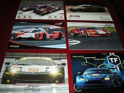 Sports Mem, Cards & Fan Shop Racing-other ,nuove Come Da Foto ! Useful Ferrari,european Le Mans Series N.12 Card Cartoline