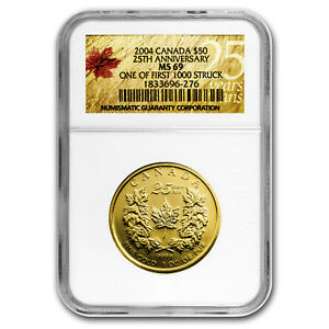 Image Is Loading 2004 Canada 1 Oz Gold Maple Leaf Ms