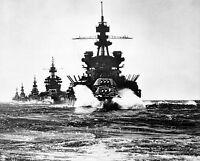 U.s. Navy Battleship Uss Pennsylvania Leads 8x 10 World War Ii Ww2 Photo 43
