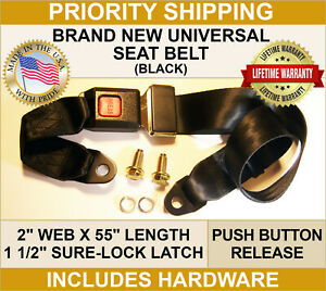 SEAT-BELTS-FOR-YOUR-JEEP-AMC-WILLYS-NASH-UNIVERSAL-2-POINT-MOUNTING-BLACK