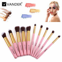 Vander 10pcs Pro Makeup Cosmetic Foundation Lip Brushes Set Kit Eyeshadow Powder