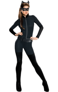 Womens The Dark Knight Rises Catwoman Superhero Film Fancy Dress Costume