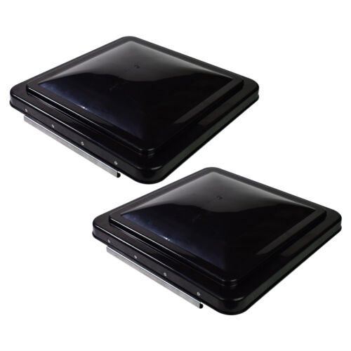 """2 14/"""" x 14/"""" RV Replacement Roof Vent CoverBlackCamper Vent Cover Trailer"""