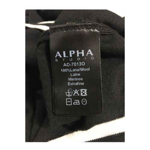 dettagli Ad 100 Camicia Ecr Alpha Mod 7013o Studio nera lana con da donna r0qqwYCP8