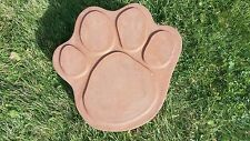 """16"""" LARGE DOG CAT PAW PRINT CONCRETE CEMENT STEPPING STONE MOLD"""