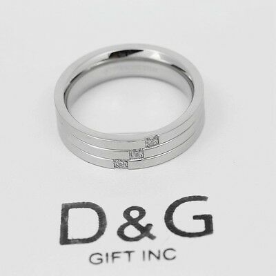 DG Men's Stainless Steel:Eternity CZ Wedding Engagement Ring 8,9 10 11,12,13*BOX