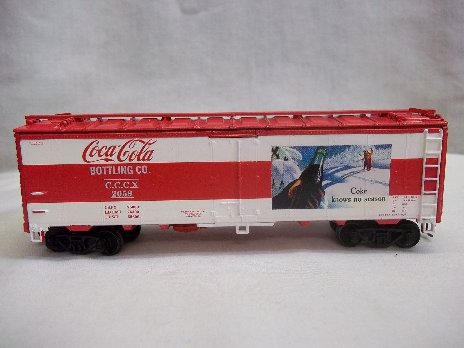 ATHEARN CHRISTMAS TRAIN COCA COLA 2003 LIMITED EDITION ICE BUNKER REEFER HO