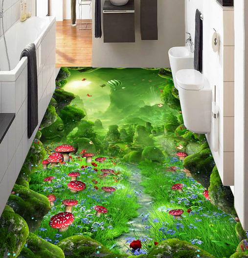 3D Magic Forest  83 Floor WallPaper Murals Wall Print Decal AJ WALL CA Lemon