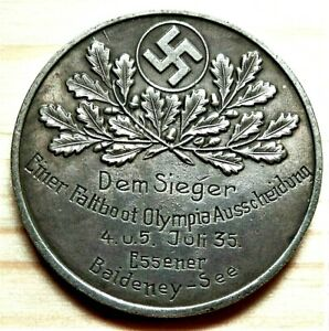 1935-WW2-GERMAN-COMMEMORATIVE-REICHSMARK-COLLECTORS-COIN-DEM-SIEGE