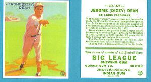 1933-Goudey-Reprint-223-Jerome-Dizzy-Dean-Card-St-Louis-Cardinals
