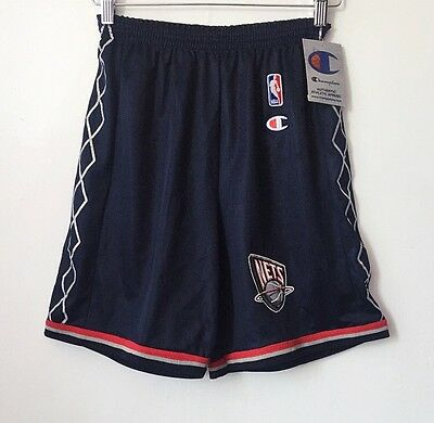 2f896de6449 Vintage New Jersey Nets Champion Shorts Youth Size Medium Deadstock NWT 90s