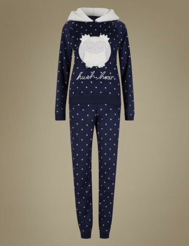 M /& S Collection Owl polaire navy Mix twosie With Eye Mask