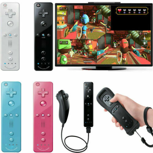 Remote and Nunchuck Controller WITH SILICONE CASE for NINTENDO WII New
