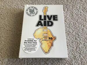 LIVE AID (DVD, 2004, 4-Disc Set) *NEW* NEVER OPENED* VINTAGE 1985, BOX SET