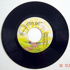 ONE 1979'S 45 R.P.M. RECORD, JOSE VELEZ, LO QUEL EL TIEMPO SE LLEVO + NO POR FAV