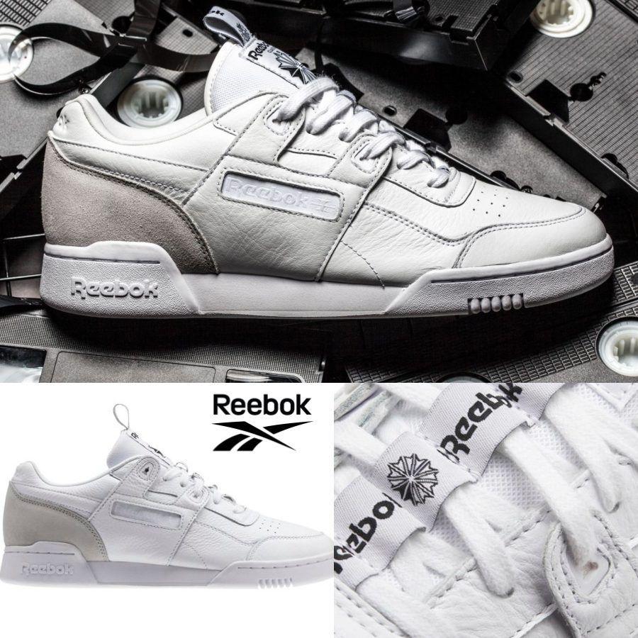 Reebok Classic Workout Plus IT Shoes Sneakers White Grey BS6214 SZ 4-12.5 Scarpe classiche da uomo