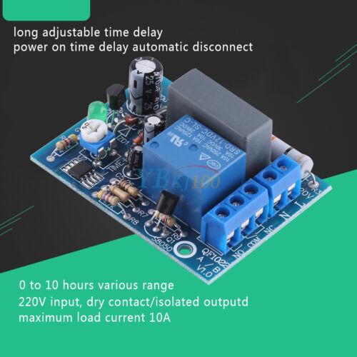 AC220V 0.8W Temporizador Ajustable Retraso Encendido/Apagado Interruptor De Tiempo Módulo de Relé caliente