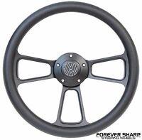 Black Volkswagen Vw 1974-93 Steering Wheel Set Beetle Golf Bus Fox W/ Boss Kit