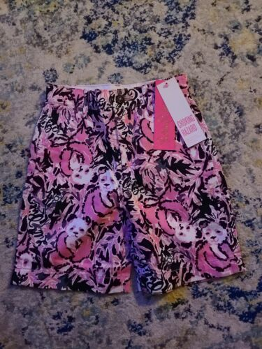 Details about  /NWT Lilly Pulitzer Boys Beaumont Shorts Pink Hangin With My Boo Size 5 $58 NEW