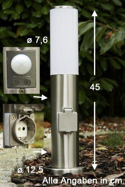 Lampioncino da giardino con sensore di movimento Presa elettrica Design 44890