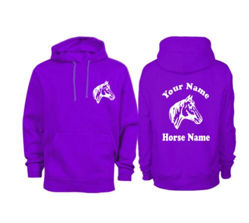 Personalised Adults Horse Head Hoodie H09