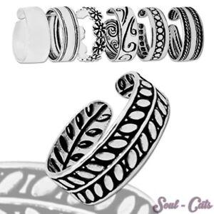Ein Zehenring 925 Sterling Silber Zehenring Versch. Designs Verstellbar Im Sommer KüHl Und Im Winter Warm