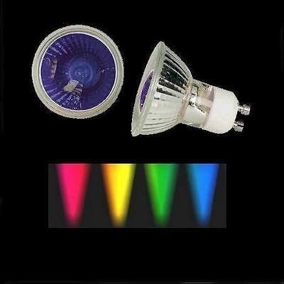 Halogenlampe 50W 230V GU10 farbig gelb Halogen bunt