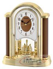 Amazing Genuine Seiko QXN228 B Table Clock | Pendulum Clock | Gold/Brown