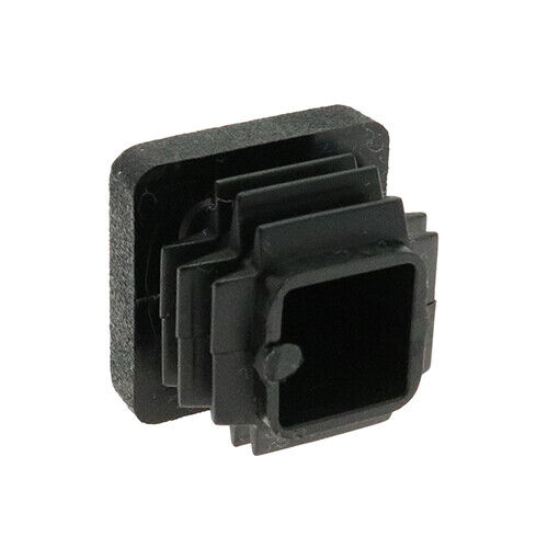 25 Pack Square Tube Inserts 30mm x 30mm Black Box Section Caps Tube End Caps