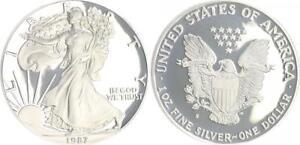 USA-1-Dollar-Liberty-1987-PP-in-Muenzkapsel-ohne-Etui-PP-proof