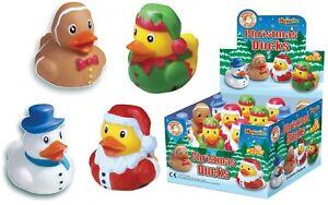 Mini Pato de Goma Navidad Santa Muñeco Nieve Elfo Hombre Jengibre Regalo Novedad