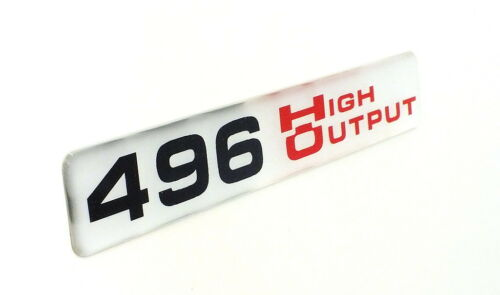 High Output Super Sized SATIN EMBLEM B 496 HO