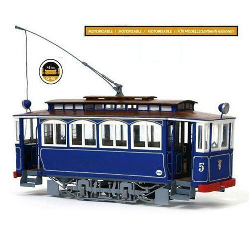 Occre Barcelona Tramvia blue Tibidabo Tram 1 24 Scale Model Kit 53001