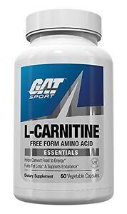 GAT-L-CARNITINE-60-Caps-Stim-Free-Fat-Burner-Free-Form-Amino-Acid-Diet-Energy